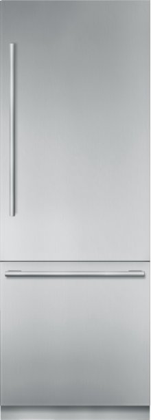 30 inch Stainless Steel Built in 2 Door Bottom Freezer, Pre-Assembled, Masterpiece® Handle T30BB910SS