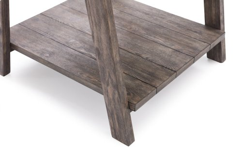 Emerald Home Laural Lane Rectangular Coffee Table W/tile Top Gray T306-00