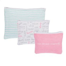 """""""Out Dream Yourself"""" Zip Pouches set/3."""