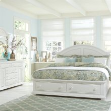 Queen Storage Bed, Dresser & Mirror, N/S