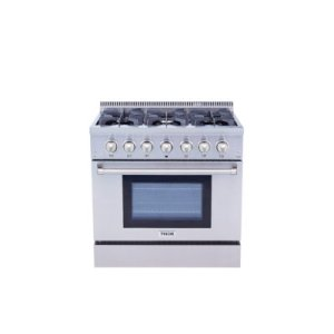 Thor36 Inch Professional Dual Fuel Range In Stainless Steel