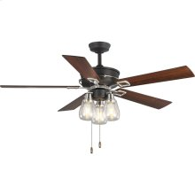 "Teasley 56"" Five-Blade Ceiling Fan With Glass Shades"