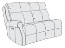 McGwire Left Arm Power Motion Loveseat in #6 Antique Brass Product Image