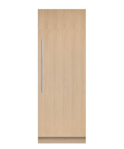 """Integrated Column Refrigerator 30"""", Stainless Steel Interior Product Image"""