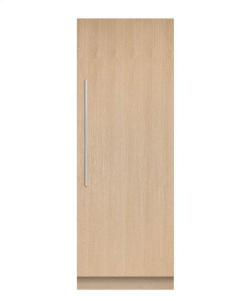 "Integrated Column Refrigerator 30"", Stainless Steel Interior"