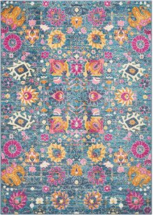 Passion Psn01 Denim Rectangle Rug 5'3'' X 7'3''