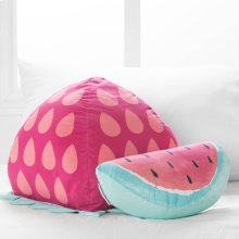 Strawberry \u0026 Watermelon Throw Pillows, 2- Pack - Pink and Turquoise