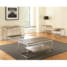 """Lucia Cocktail Table Gray/Brown 47.25""""x23.25""""x20"""""""