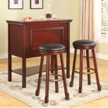 "3-Pc. ""Cherry"" Bar Set - (1) 665-473 Bar & (2) 665-432 Bar Stools"