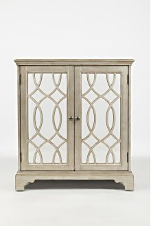 """Casa Bella 32"""" Accent Cabinet- Vintage Silver"""