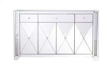 60 in clear crystal mirrored credenza