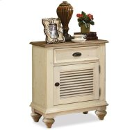 Coventry Shutter Door Nightstand Weathered Driftwood/Dover White finish Product Image