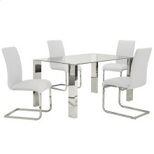 Frankfurt/Maxim 5pc Dining Set, White