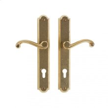 """Arched Multi-Point Entry Set - 1 3/4"""" x 11"""" White Bronze Light"""