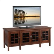 """Chocolate & Black Glass 60"""" TV Console #81160 Product Image"""