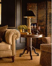 Essex Leather Wrap Lamp Table