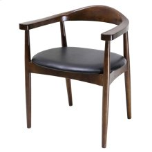 Tita PU Chair, Black/ Dark Walnut