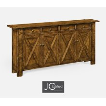 Country Walnut Narrow Sideboard