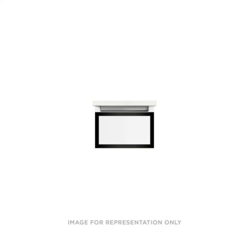"""Profiles 12-1/8"""" X 7-1/2"""" X 21-3/4"""" Framed Slim Drawer Vanity In White With Matte Black Finish, Slow-close Full Drawer and Selectable Night Light In 2700k/4000k Color Temperature"""