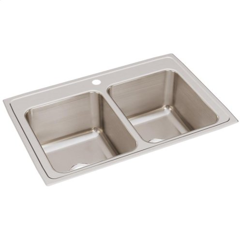 """Elkay Lustertone Classic Stainless Steel 33"""" x 22"""" x 12-1/8"""", Equal Double Bowl Drop-in Sink"""