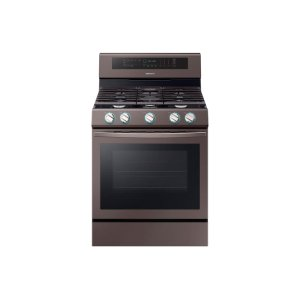 Samsung5.8 cu. ft. True Convection Freestanding Gas Range with Illuminated Knobs in Tuscan Stainless Steel