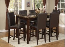 Palms 7 Pc. Pub Set Brown
