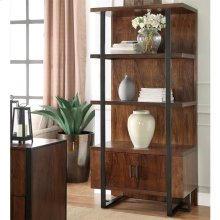 Terra Vista - Bookcase Pier - Casual Walnut Finish
