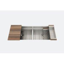 "SmartStation 005457 - undermount stainless steel Kitchen sink , 24"" × 18 1/8"" × 10""  24"" × 18 1/8"" × 10"" (Walnut)"