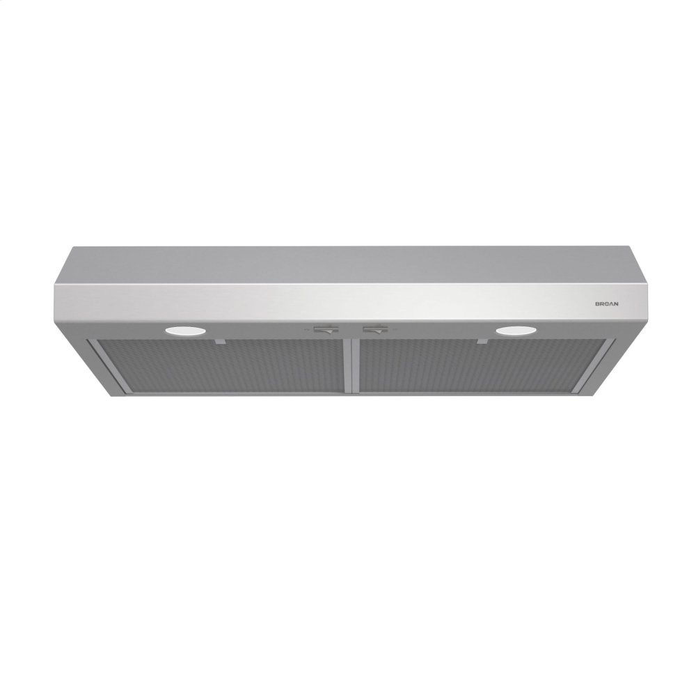 Glacier 36-Inch 250 CFM Stainless Steel Range Hood with light