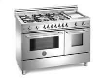 Stainless 48 Six-Burner Electric Ovens, Self-Clean