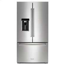 "KitchenAid® 23.8 cu. ft. 36"" Counter-Depth French Door Refrigerator - Stainless Steel"