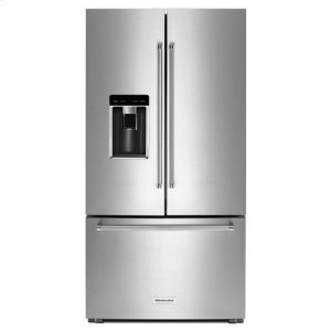 "KITCHENAIDKitchenAid(R) 23.8 cu. ft. 36"" Counter-Depth French Door Refrigerator - Stainless Steel"