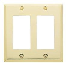Polished Brass Beveled Edge Double GFCI