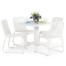 0100 Series 5PC Dining Set Textured White Finish