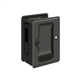 "HD Pocket Lock, Adjustable, 3 1/4""x 2 1/4"" Sliding Door Receiver - Oil-rubbed Bronze"