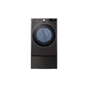 LG 鸭博娱乐s7.4 cu. ft. Ultra Large Capacity Smart wi-fi Enabled Front Load Gas Dryer with TurboSteam™ and Built-In Intelligence