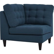 Empress Upholstered Fabric Corner Sofa in Azure