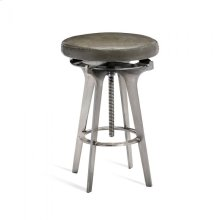 Colton Adjustable Stool - Silver