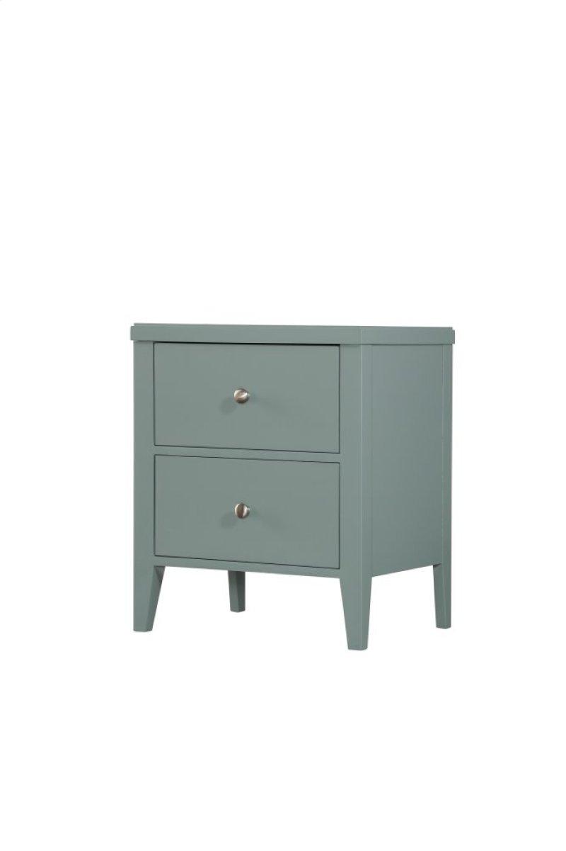Emerald Home Decor 2 Drawer Nightstand Seaform Green B371 04grn