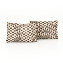 Lumbar Pillow Style Embroidered Pillow, Set of 2