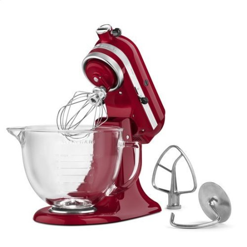 KitchenAid® Artisan® Design Series 5 Quart Tilt-Head Stand Mixer with Glass Bowl - Grenadine