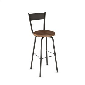 Crystal Swivel Stool (wood)