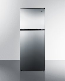 Two-door Cycle Defrost Refrigerator-freezer In Slim Width With Stainless Steel Doors and Black Cabinet