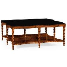 Walnut Barleytwist Square Coffee Table
