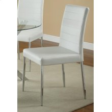 Vance White and Chrome Dining Chair