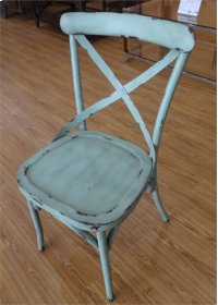 X Back Counter Chair - Blue Product Image