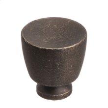 """1 1/4"""" Knob - Distressed Oil Rubbed Bronze"""
