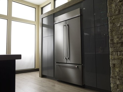 """24.2 Cu. Ft. 42"""" Width Built-In Panel Ready French Door Refrigerator with Platinum Interior Design - Stainless Steel"""