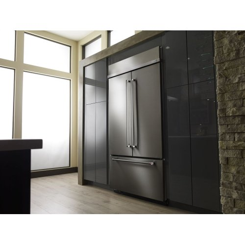 "24.2 Cu. Ft. 42"" Width Built-In Stainless French Door Refrigerator with Platinum Interior Design - Stainless Steel"