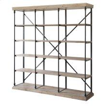 La Salle Metal and Wood 3 Section Bookshelf